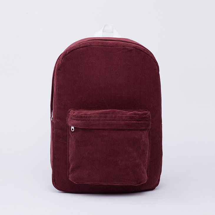 NLS corduroy backpack [burgandy]