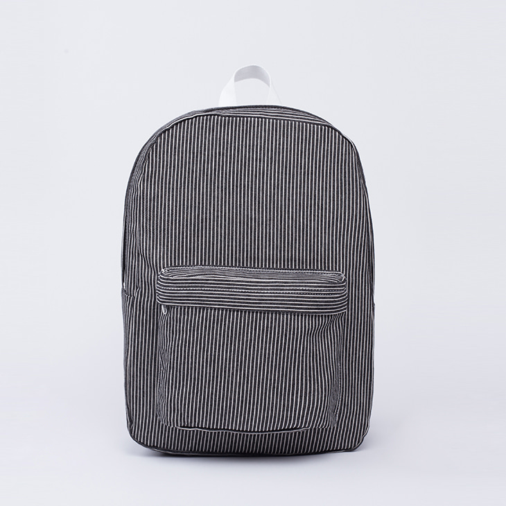NLS stripe backpack [Black]