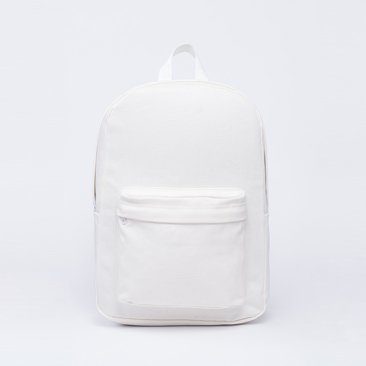 NLS canvas backpack [White]