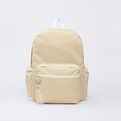 NLS beige block backpack