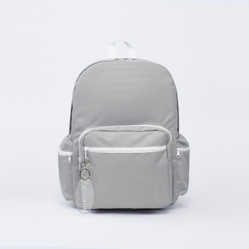 NLS grey block backpack
