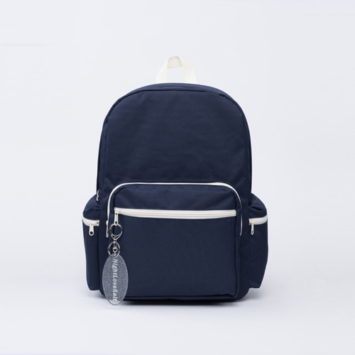 NLS navy block backpack